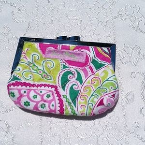 Vera Bradley Kiss Lock Coin Purse